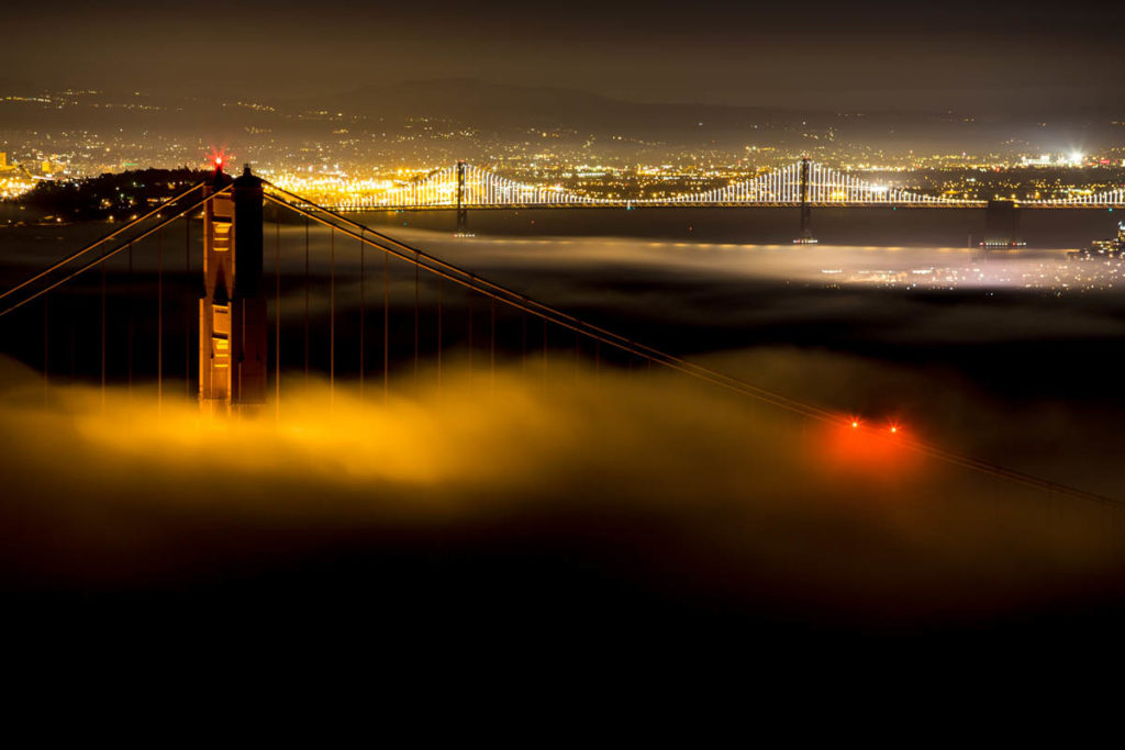 Low Fog Golden Gate Bridge